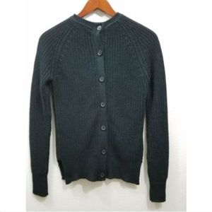 Zara Knit Chunky Black Cardigan Sweater Size S
